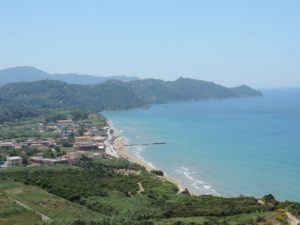 Corfu Beach view
